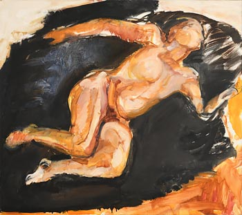 Barrie Cooke, Nude with White and Black Sleeping (1986) at Morgan O'Driscoll Art Auctions