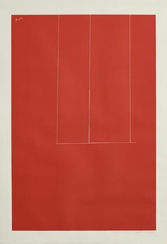 Robert Motherwell, Untitled (Red from London Series I) (1971) at Morgan O'Driscoll Art Auctions