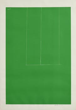 Robert Motherwell, Untitled (Green from London Series I) (1971) at Morgan O'Driscoll Art Auctions