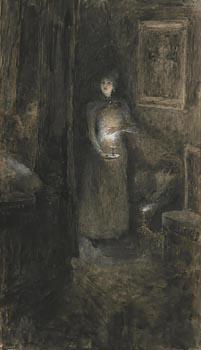 John Butler Yeats, Under Candlelight at Morgan O'Driscoll Art Auctions