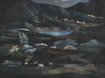 George Campbell, Shawlies of Claddaghduff at Morgan O'Driscoll Art Auctions