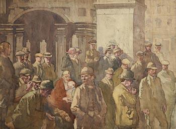 William Conor, Waiting the Verdict at Morgan O'Driscoll Art Auctions