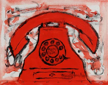 Neil Shawcross, Still Life - Red Phone at Morgan O'Driscoll Art Auctions