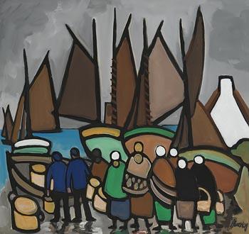 Markey Robinson, Landing the Catch at Morgan O'Driscoll Art Auctions