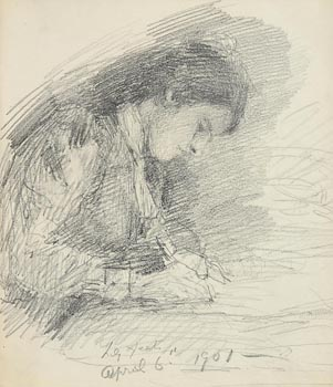 John Butler Yeats, Lily Yeats (1901) at Morgan O'Driscoll Art Auctions