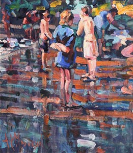 Arthur K. Maderson, Original Study for Point of Sunset, Lismore, River Pool at Morgan O'Driscoll Art Auctions