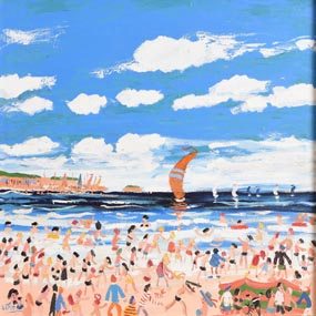 Simeon Stafford, Busy Day at the Beach at Morgan O'Driscoll Art Auctions