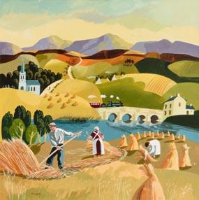 Desmond Kinney, Haymaking at Morgan O'Driscoll Art Auctions