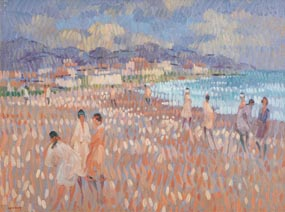 Desmond Carrick, Burianna Beach, Nerja at Morgan O'Driscoll Art Auctions