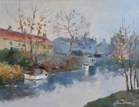 Liam Treacy, Canal at Baggott Street at Morgan O'Driscoll Art Auctions