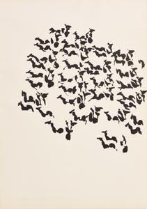 Louis Le Brocquy, Chariots (Tain) (1969) at Morgan O'Driscoll Art Auctions