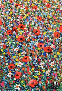 Kenneth Webb, Poppies in a Meadow at Morgan O'Driscoll Art Auctions
