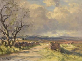 Frank McKelvey, Road to Pontoon, Co. Mayo at Morgan O'Driscoll Art Auctions