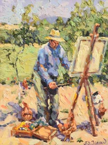 James S. Brohan, Self Portrait of Artist at Work at Morgan O'Driscoll Art Auctions