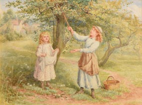 Samuel McCloy, Picking Apples at Morgan O'Driscoll Art Auctions