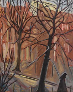 Kitty Wilmer O'Brien, Trees, Herbert Park, Dublin (1970) at Morgan O'Driscoll Art Auctions