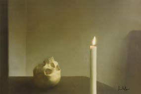 Gerhard Richter, Sch�del mit Kerze (Skull with Candle) at Morgan O'Driscoll Art Auctions