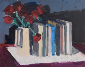 Brian Ballard, Roses & Books (2009) at Morgan O'Driscoll Art Auctions