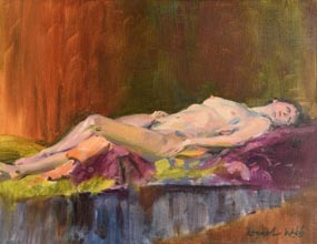 Kenneth Webb, Reclining Nude at Morgan O'Driscoll Art Auctions