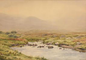 Frank Egginton, Misty Day, Finny River, Connemara at Morgan O'Driscoll Art Auctions