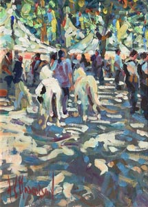 Arthur K. Maderson, The Spring Fair, Lodev, Midi - France at Morgan O'Driscoll Art Auctions
