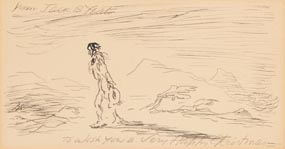 Jack Butler Yeats, Christmas Card Design (To Wish You A Very Happy Christmas) at Morgan O'Driscoll Art Auctions