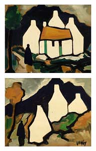 Markey Robinson, Cottages and Figures at Morgan O'Driscoll Art Auctions