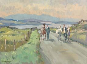 Robert Taylor, Road to the Fair (1985) at Morgan O'Driscoll Art Auctions