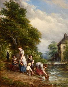 John Anthony Puller, Collecting Water at Morgan O'Driscoll Art Auctions