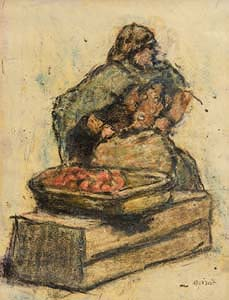 William Conor, The Fruit Seller at Morgan O'Driscoll Art Auctions