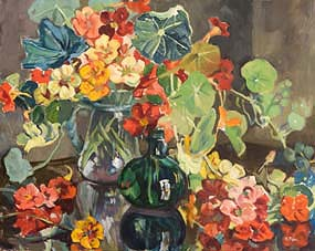 Kathleen Fox, Still Life - Flowers in Vases at Morgan O'Driscoll Art Auctions