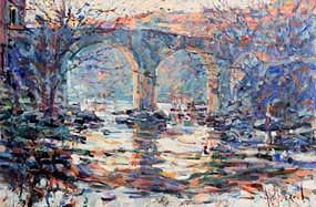 Arthur K. Maderson, The Old Bridge, St Laurent le Minier, France at Morgan O'Driscoll Art Auctions