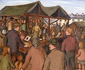 Gladys MacCabe, Market Stall at Morgan O'Driscoll Art Auctions
