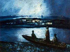 Daniel O'Neill, Three Boatmen at Morgan O'Driscoll Art Auctions