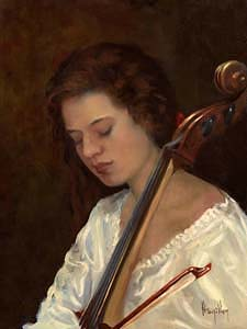 Ken Hamilton, The Cello Player at Morgan O'Driscoll Art Auctions
