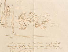 Jack Butler Yeats, Two Dublin Debutantes, Close to O'Connell Bridge, Dublin at Morgan O'Driscoll Art Auctions