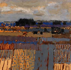 Colin Middleton, Fields: Lough Braden (1979) at Morgan O'Driscoll Art Auctions
