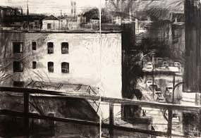 Donald Teskey, Amtrak Drawing No.1 (Bridge & Tunnel People) (2007) at Morgan O'Driscoll Art Auctions