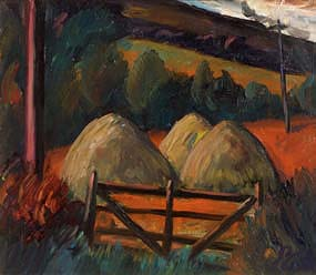 Peter Collis, Hay Stacks, Co. Wicklow at Morgan O'Driscoll Art Auctions