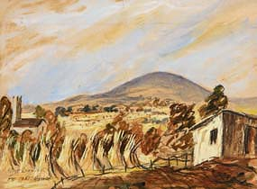 Tony O'Malley, Mt. Leinster, Harvest (1951) at Morgan O'Driscoll Art Auctions