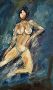Basil Blackshaw, Female Nude at Morgan O'Driscoll Art Auctions