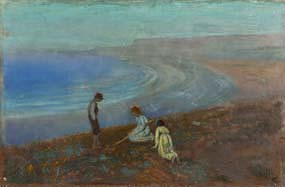 George Russell, Three Children on a Beach at Morgan O'Driscoll Art Auctions
