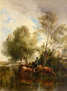 Thomas Sidney Cooper, The Watering Place (1870) at Morgan O'Driscoll Art Auctions