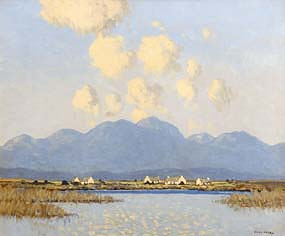 Paul Henry, Cottages, Connemara (1928-35) at Morgan O'Driscoll Art Auctions