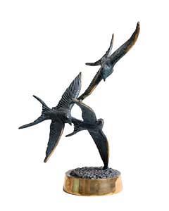 Colm J. Brennan, Flight of Swallows at Morgan O'Driscoll Art Auctions