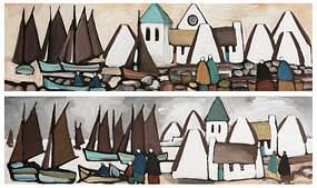 Markey Robinson, Fishing Village at Morgan O'Driscoll Art Auctions