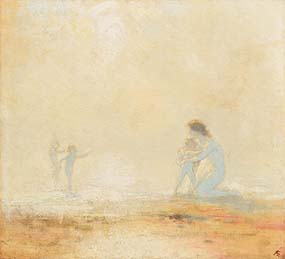 George Russell, Playing on the Beach at Morgan O'Driscoll Art Auctions