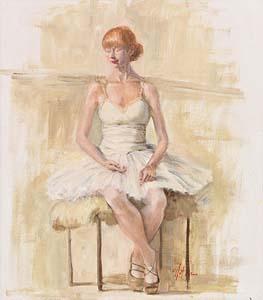Mat Grogan, Ballerina in White at Morgan O'Driscoll Art Auctions