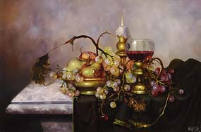 Furst, Fruit and Wine on Tabletop at Morgan O'Driscoll Art Auctions