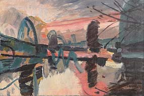 Brian Ballard, Pink Sky (1991) at Morgan O'Driscoll Art Auctions